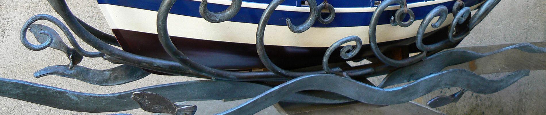 forja, barco, mar, metalmorfosis