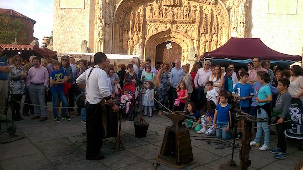 demostraciones forja, Valladolid, Plaza San Pablo, Metalmorfosis